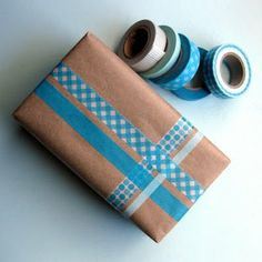 Always looking for creative ways to wrap and decorate packages that need to be mailed - a product with endless possibilities, washi tape.