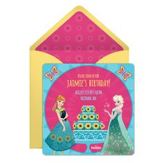 Throw aa extra special birthday party for your favorite sister with a festive Frozen Fever online invitation.