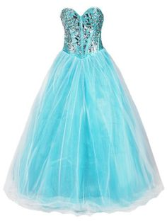 Turquoise blue dress with big jewels