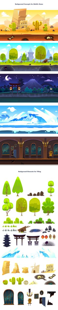 Misc Background Concepts on Behance