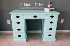 Check out how I transformed a dingy old school desk into a mint dream with just a little imagination (and paint).