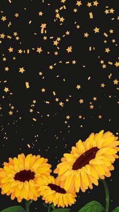 Illustrations Discover Wallpaper Brilho de Sol 1 by Gocase wallpaper papel de parede background fundo de tela cellphone celular sunflowers girassóis black preto yellow amarelo cute girly gocase lovegocase แบคกราวนไอโฟน พนหลงโทรศพท วอลเปเปอรโทรศพท Tumblr Wallpaper, Wallpaper Sky, Emoji Wallpaper, Iphone Background Wallpaper, Cellphone Wallpaper, Kawaii Wallpaper, Cute Black Wallpaper, Iphone Backgrounds, Wallpaper Ideas