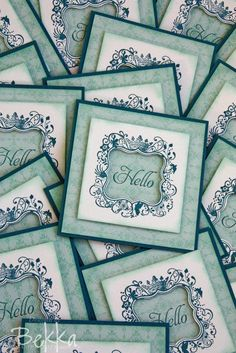 Hello Card with Elementary Elegance from Stampin' Up!
