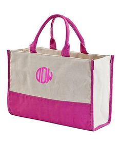 Look at this Hot Pink Vivera Monogram Bag on today! Everyday Bag, Up Girl, Monogram Canvas, Canvas Tote Bags, Canvas Totes, Pink And Green, Diaper Bag, Hot Pink, Reusable Tote Bags