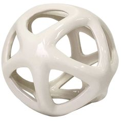5-IN. WHITE CERAMIC SPHERE