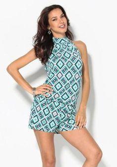 Geometrický overal so šortkami #ModinoSK #coverall #fashion #overal #moda #damskamoda #trend #style #original High Neck Dress, Dresses, Fashion, Summer Dresses, Turtleneck Dress, Vestidos, Moda, Fashion Styles, Dress