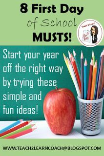 your year easier by rolling out your rules, routines, and procedures in an exciting way! Get to know your students starting from the first day of school by trying these eight tried and true activities! First Day Of School Activities, 1st Day Of School, Beginning Of The School Year, School Fun, School Stuff, Back To School Ideas For Teachers, School 2017, Fun Activities, High School