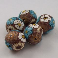 Polymer Clay Beads by PolymerClayBarn on Etsy, $7.50