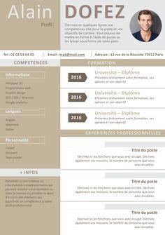 CV clean et moderne
