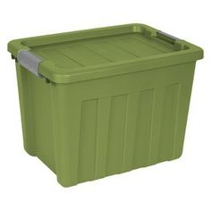 sterilite ultra green storage container 18gal target mobile