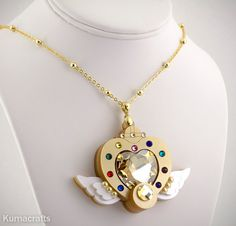 Sailor Moon Inspired Eternal Compact Necklace by KumaCrafts