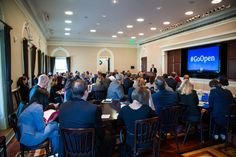 Leaders gather at the Open Education Symposium at the White House.