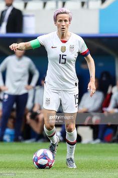 Megan Rapinoe of USA controls the ball during the 2019 FIFA Women's. Megan Rapinoe, Fifa Women's World Cup, Alex Morgan, Play Soccer, Team Usa, Dream Hair, Pretty People, Amazing Women, Athlete