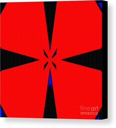 Abstract Canvas Print featuring the digital art Reds And Black by Caroline Gilmore
