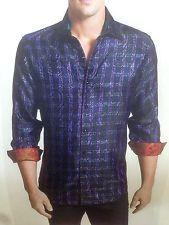 "Robert Graham Shirt NWT - Men's L - ""MR. BIG"" Limited Edition Purple NEW $498"
