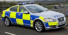 Classy: British police use a Jaguar XF to catch criminals