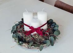 Hand-made advent candle holder