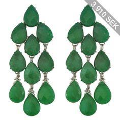 Siman Tu Green Aventurine Drop Earrings