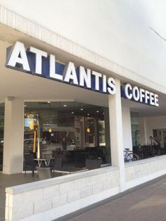 Good coffee, great patio, awesome for people watching! Best Coffee, Atlantis, The Neighbourhood, Layout, Patio, Coffee Shops, Outdoor Decor, Spaces, Awesome