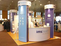 Exhibition stand configuration 3D design, hardware supplied and graphic panels printed and produced