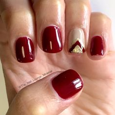 Red nail art design