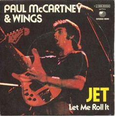 "Paul McCartney & Wings Jet & Let me roll it single vinilo 7"" 45 rpm vinyl single. Mercado de la Tía Ni, Sabarís, Baiona."