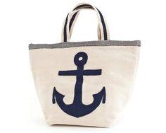 #PineConeHill Fresh American Admiral Navy/Ivory Indoor/Outdoor Tote Bag