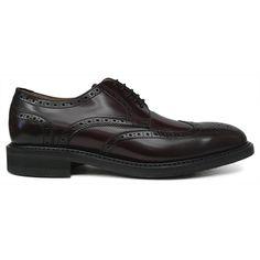 Zapato blucher con pala vega y picado maría en burdeos de Berwick 1707 vista lateral