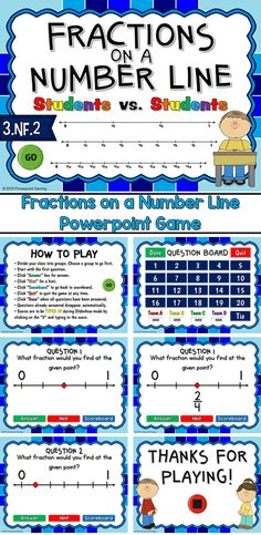 Engage students with this fun, interactive fractions game. Students must determine what the fraction is when given a number line and a single point. This is a student vs. students game so students are competing against one another.