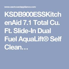 KSDB900ESSKitchenAid 7.1 Total Cu. Ft. Slide-In Dual Fuel AquaLift® Self Clean…