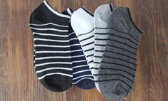5 Colors Men Sock 5 Pairs=10pcs/lot Package Male Summer Light Socks Stripe Cotton Short Sock Wholesale Couples Socks Sale