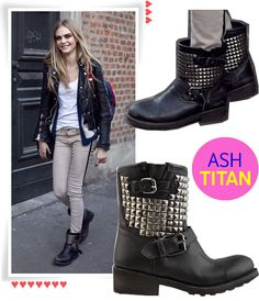 Incorporate these biker boots with your spring wardrobe.
