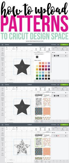 Create print and cut designs by learning how to Upload Patterns to Cricut Design Space. Use patterns on any Cricut Access project or on your own designs! Informations About How to Upload Patterns to C Cricut Vinyl, Vinyle Cricut, Cricut Craft Room, Cricut Air, Cricut Help, Cricut Fonts, Illustration Vector, Illustrations, Cricut Access