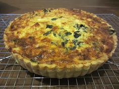 tea with hazel: purslane and ricotta quiche