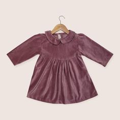 Vintage Rose Dress by Twee & co Organic Boutique Vintage Velvet, Vintage Roses, Cotton Velvet, Rose Dress, Little Dresses, Winter Dresses, Dress Making, Organic Cotton, Nostalgia
