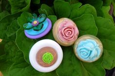 Bloomin Button Brooches - Vintage Plastic Buttons & Flowers make a lovely pin:-) by ksyardbird, $6.00