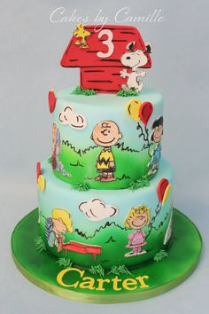 Charlie Brown Cake, Cakes by Camille, Peanuts birthday cake