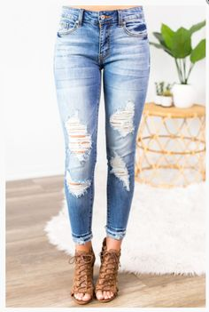"""Shop new arrivals at Beautique! Use the code """"aubree10"""" at checkout to receive 10% off your order every time you purchase!  #kancanjeans #shopsmall #summer #summerfashion #womensfashion #skinnyjeans Online Boutiques, Trendy Fashion, Queen, Top Rated, Chic, Ankle, Skinny Jeans, Denim, Shabby Chic"""