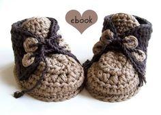 ❤ Häkelanleitung ❤ Brownie Baby Booties bei Makerist