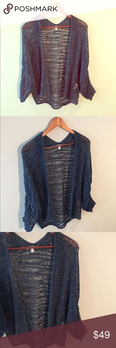 "•Diktons Barcelona• Open Knit Cardigan Diktons Barcelona Blue Open Knit Cardigan in Excellent Used Condition. Made in Spain. 90% Viscose, 10% Poly. Length Approximately 28"". Oversized Fit. Diktons Barcelona Sweaters Cardigans"