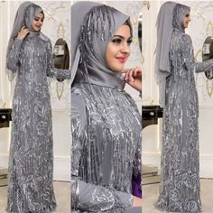 Image may contain: 3 people, people standing Muslim Dress, Hijab Dress, Muslim Girls, Muslim Women, Simple Hijab, Bridal Hijab, Marriage Dress, Modern Hijab Fashion, Red Wedding Dresses