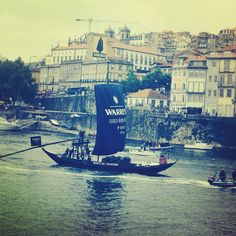 Famous ravelos (boats ) going west by the Douro river Sunday Regatta #LaConfraria #2014