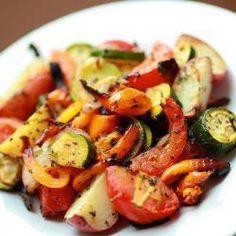 Печеные овощи с травами