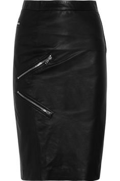 Band of Outsiders - Zip-detailed leather pencil skirt Alexander Mcqueen Bracelet, Band Of Outsiders, All Black Everything, Hot Outfits, Michael Kors Shoes, Club Dresses, Fit And Flare, Cool Girl, My Style
