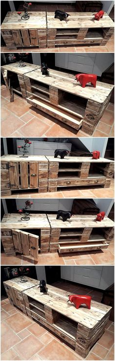 The pallet ideas provided by us are easy and swift to make. You can also give yourself a try to craft wood pallet projects. Design wonderful creations by reclaiming wood pallets in your leisure time. We came up with the idea of re-claiming wood pallets to pallet TV stand.