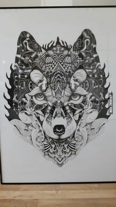 Cool Wolfhead Drawing :)