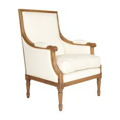 Chinon Classic Armchair, Antiqued Oak Frame