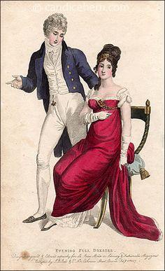 Evening Full Dress. Clothe for Man. February 1807