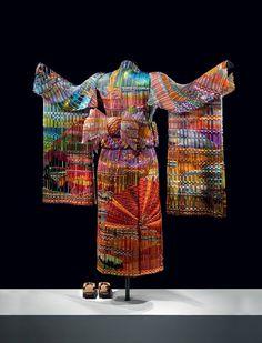 Hand Woven glass Kimono (Autumn Sunset) by Markow & Norris
