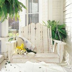 DIY:: ADIRONRACK PORCH SWING TUTORIAL (It is made from salvaged wood)...directions down page :)